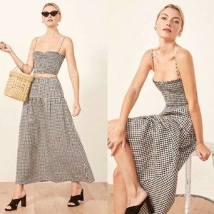 NWT Reformation Kitty Two Piece Set Gingham S